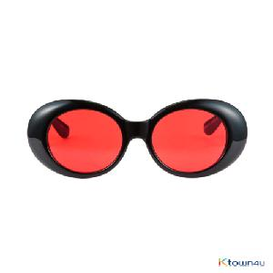 [hybition] Roswell Origin sunglassal_Glossy Black/Red Tint Lens