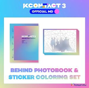 A.C.E & THE BOYZ & LOONA - BEHIND PHOTOBOOK + STICKER COLORING SET [KCON:TACT3 OFFICIAL MD]