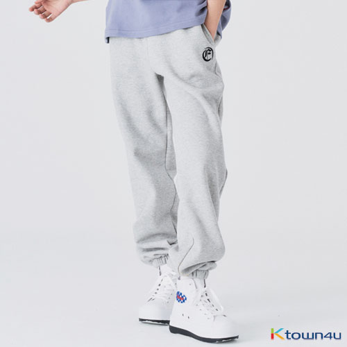 [fevertime] F LOGO WIDE  SWEAT PANTS_grey(M)